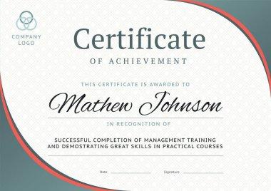 """Картина, постер, плакат, фотообои """"сертификат образца достижения. деловой диплом """", артикул 151373724"""