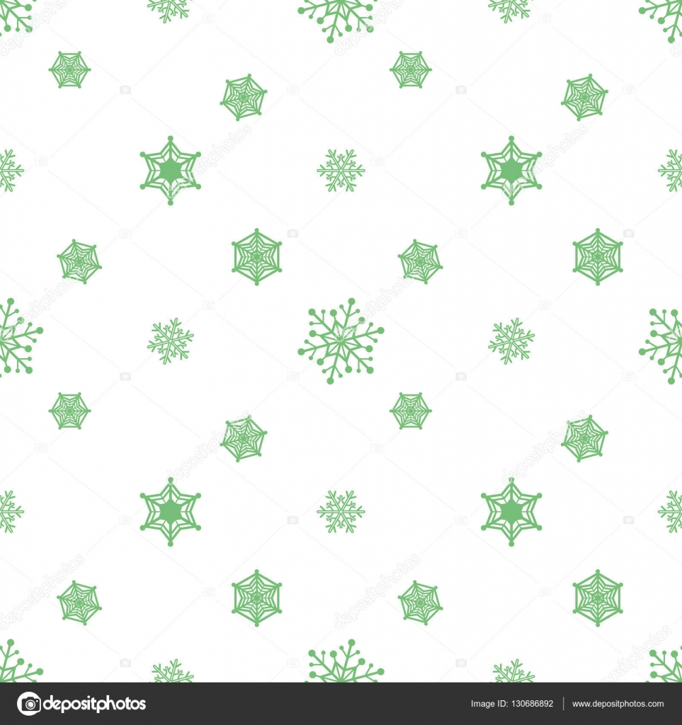 Snowflake Pastel Green Colour White Background Christmas Pattern Wallpaper Vector By Wisaad