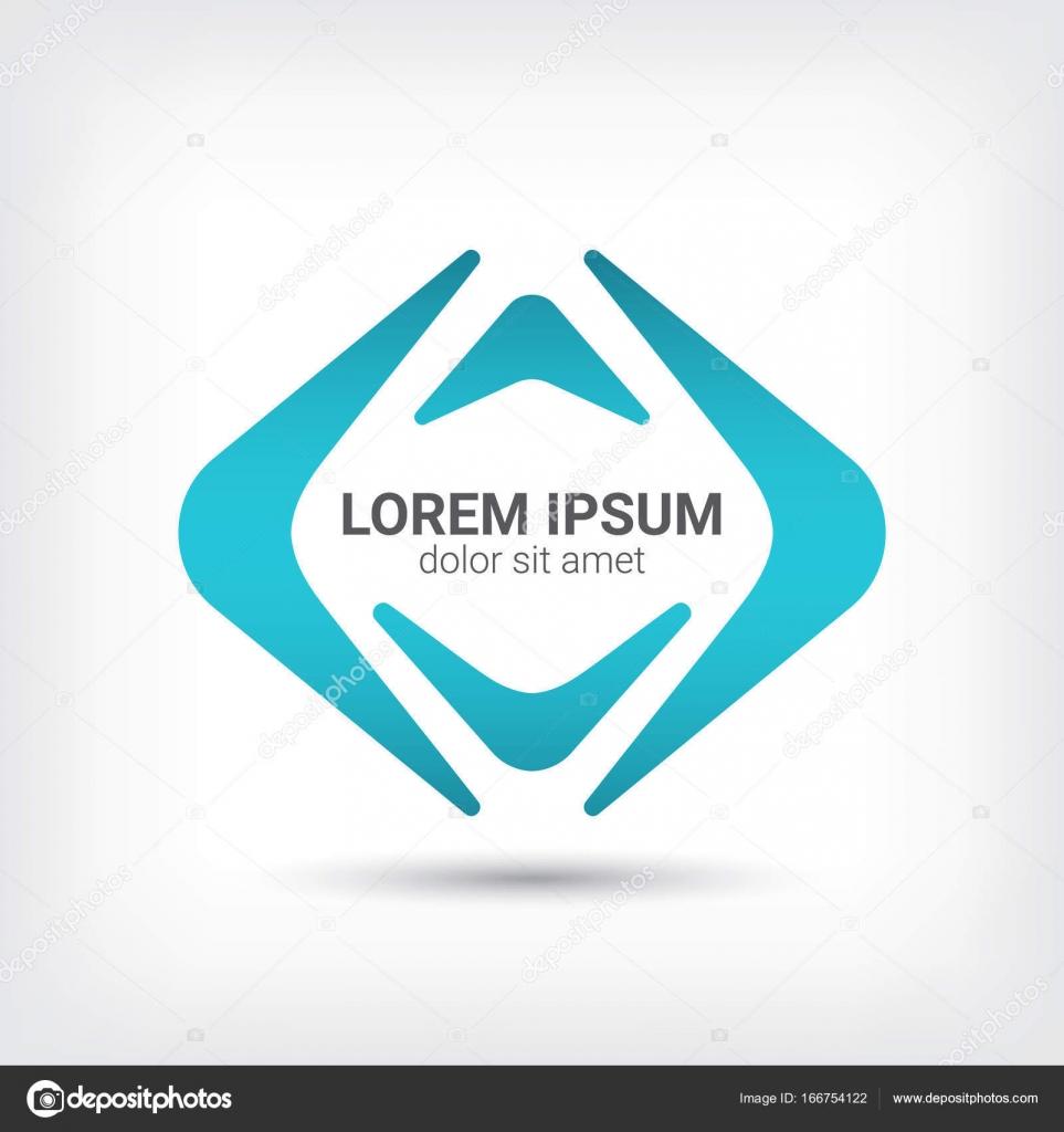 Bumerang-Logo-Kurve-Stil-Design-Vorlage — Stockvektor © Wisaad ...