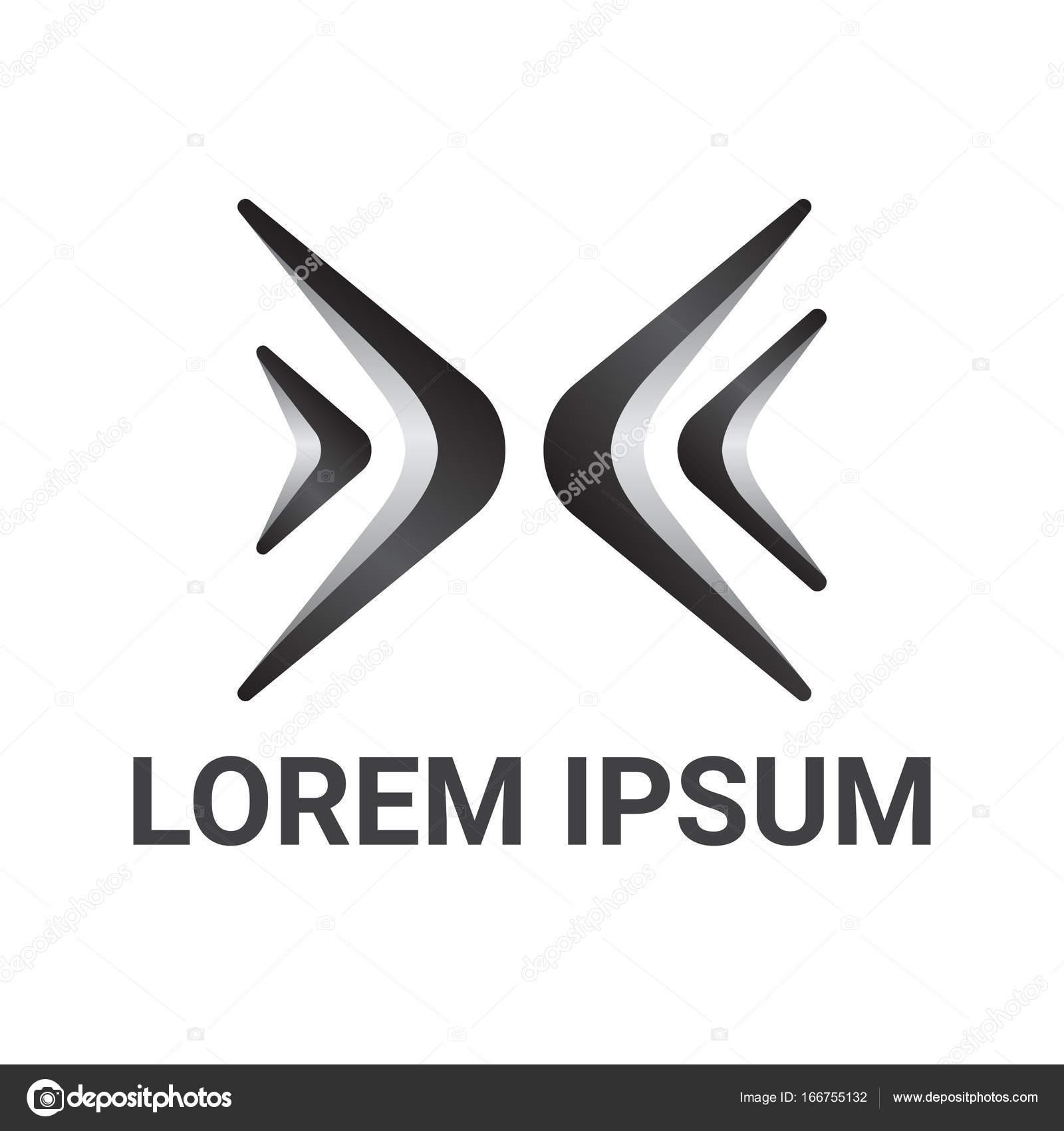 Litera X Logo Krzywej Styl Szablon Projektu Grafika Wektorowa