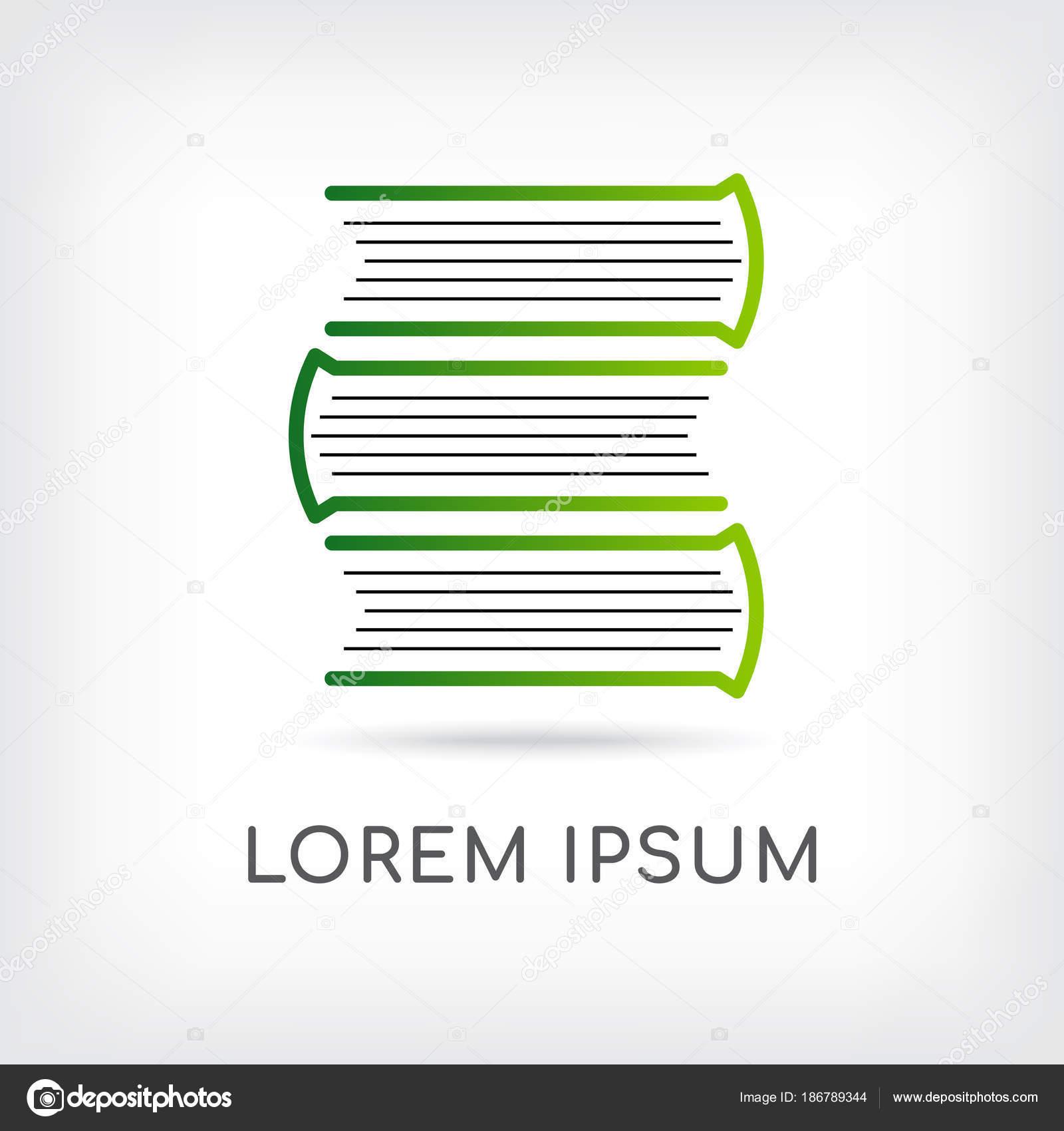 Plantilla Diseño Logotipo Libro Vector Cuadernos Mínima Capa Icono ...