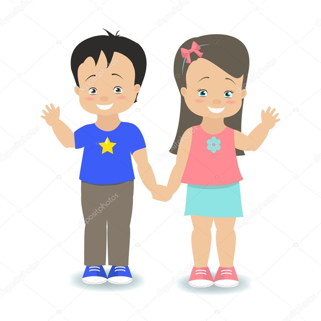 Смогу картинки, картинка мальчик с девочкой держатся за руки