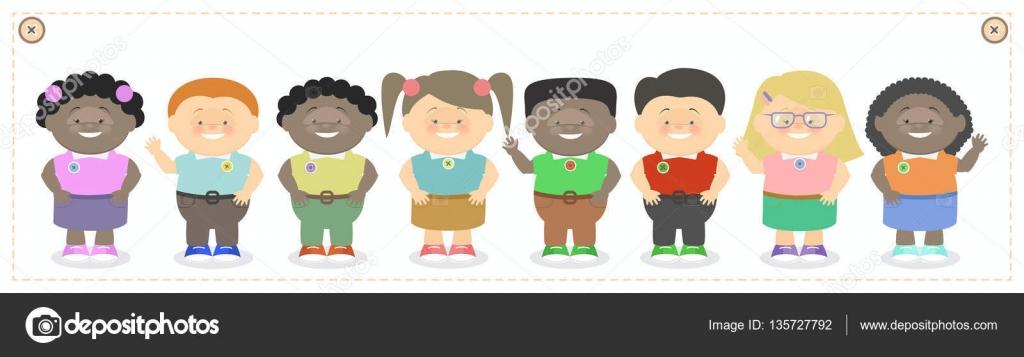 Dibujos De NiÑos Por Nacionalidades: Los Niños, Clase, Niños Y Niñas De Diferentes