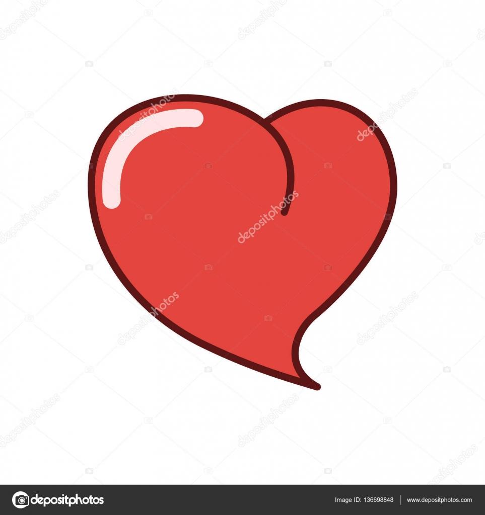 Icono del corazón humano, Ilustración del vector de la etiqueta ...