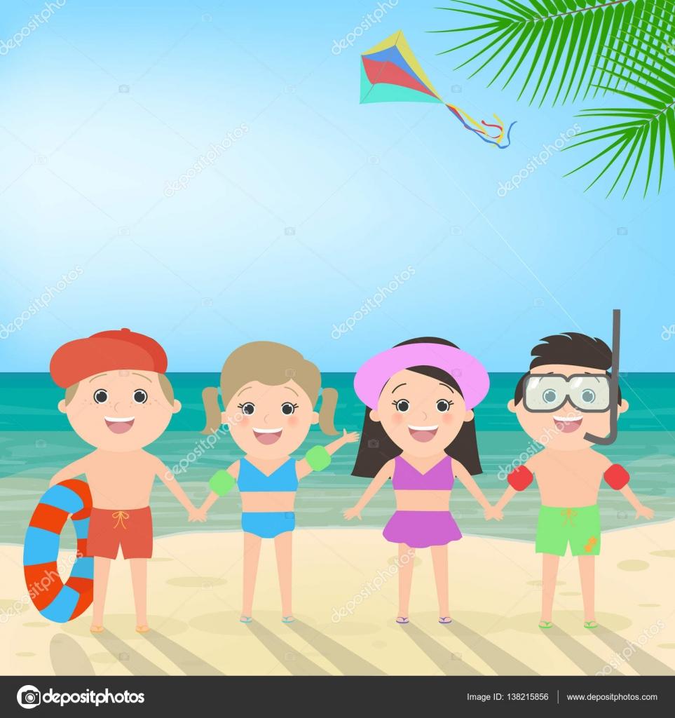 Imágenes Niños En Vacaciones Animadas Vacaciones De Verano Niños