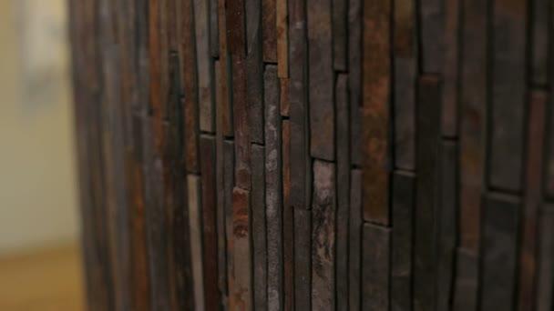 Muster Der Dekorative Steinwand Hintergrund. Nahaufnahme Von Einer  Ziegelmauer, Textur U2014 Stockvideo