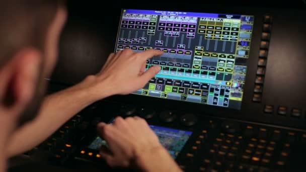 Pannello di controllo audio della fase di lavoro