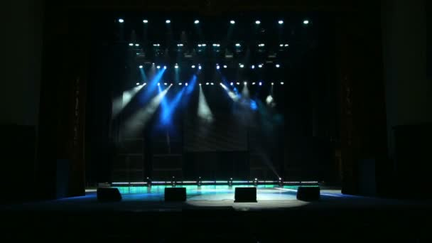 Multicolored spotlights at a concert.