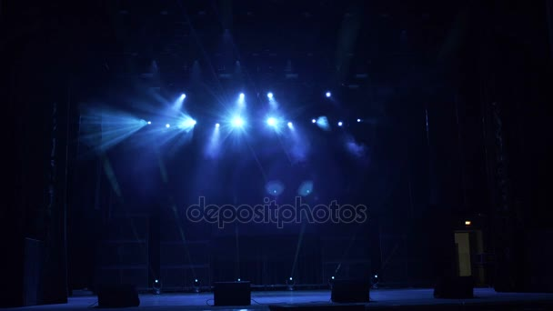 Blue and white stage lights, high resolution.