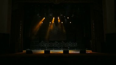 Blurred Lights A Rock Concert Stage Stock Video