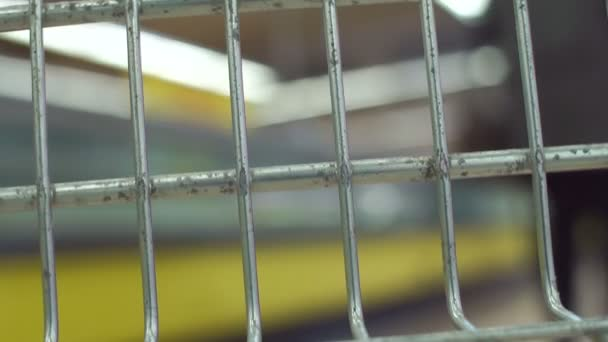 Záběr z nákupní vozík v pohybu detail.