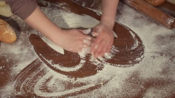 Process of making the dough at home, close-up.