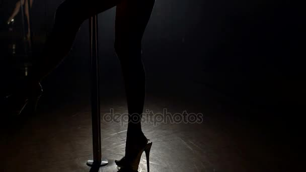 Poste Con En Zapatos Altos Cerca Sexy Piernas Chica Tacones De 29EDIH