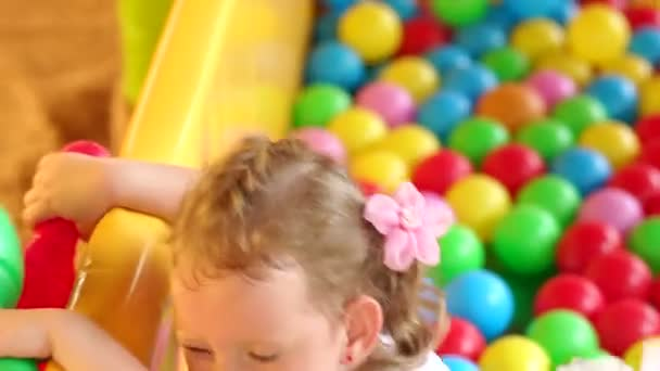 Portrait of little girl playing on the Playground