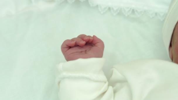 Portrét novorozené dítě v nemocnici
