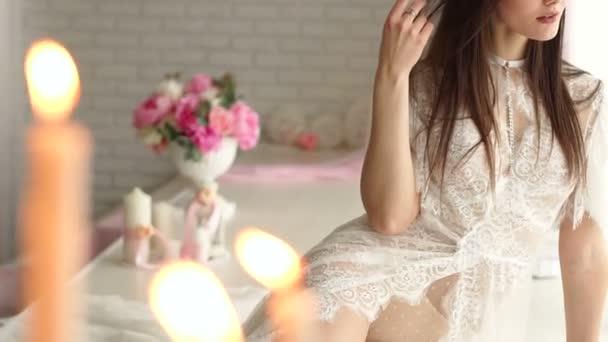 Beautiful sexy girl in erotic lingerie. Underwear.