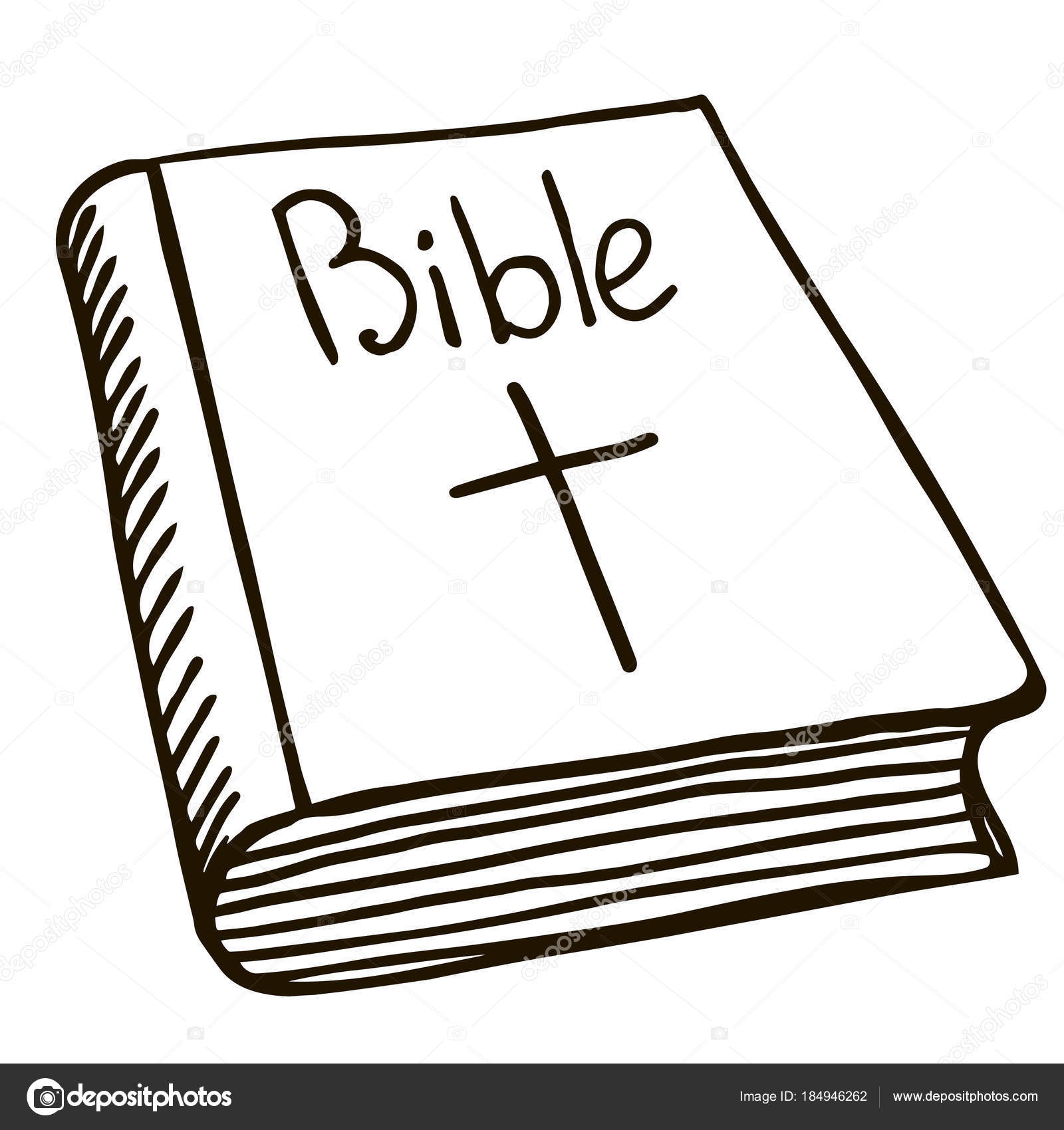 Bible drawing vector illustration sketch — Stock Vector ...