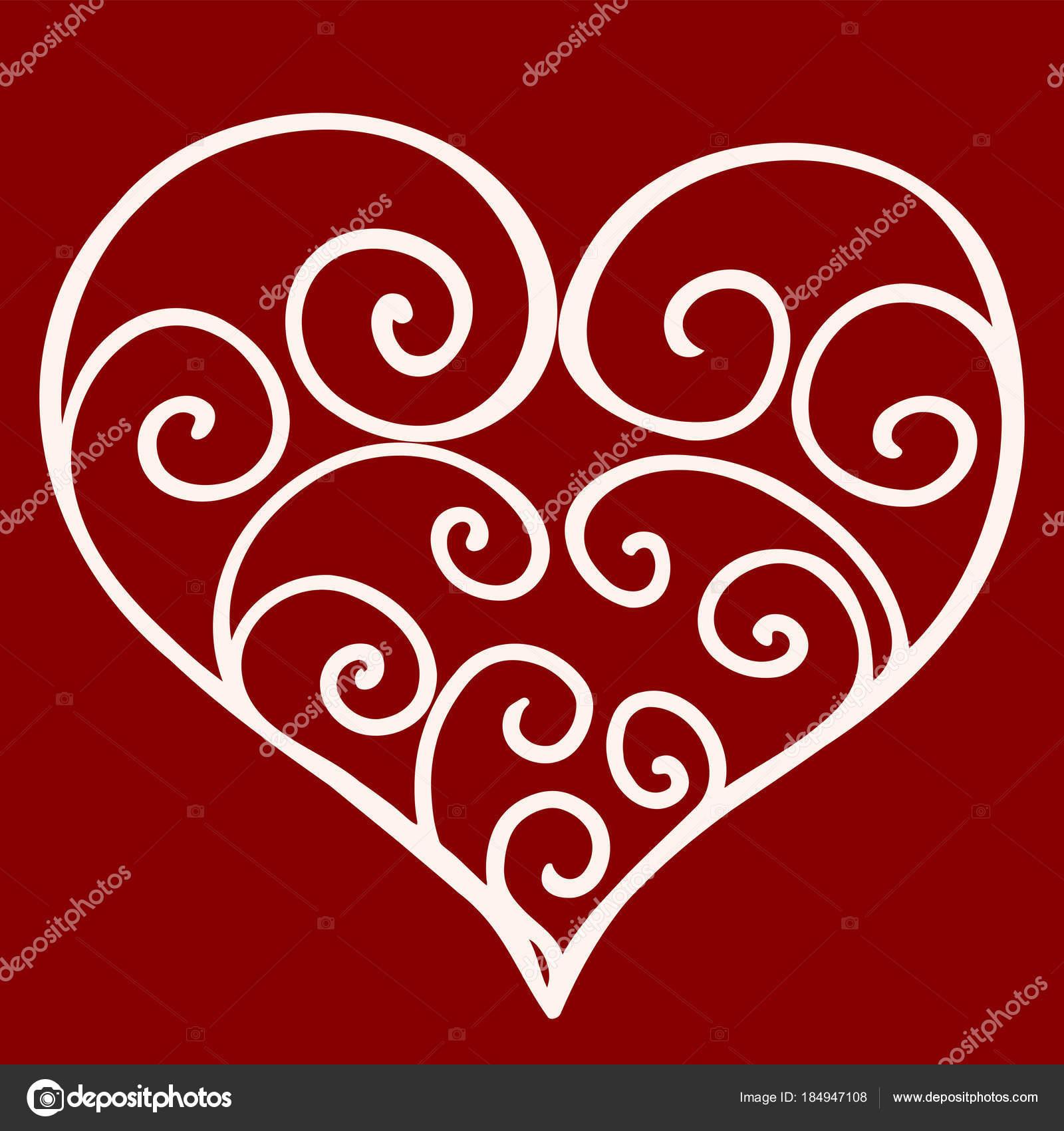 Heart Shape For Love Symbols Decorative Stock Illustration Stock
