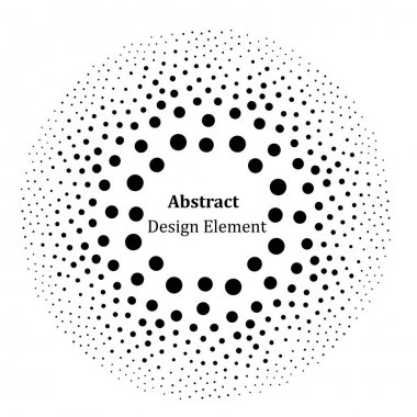 Optical abstract background. Halftone effect vector pattern. Circle dots isolated on the white background.