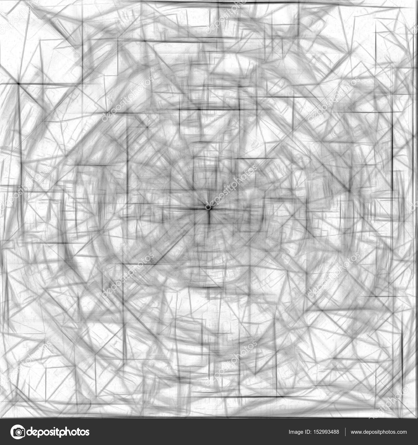 Psychedelische Zeichnen Und Skizzieren Abstraktes Muster Schwarz