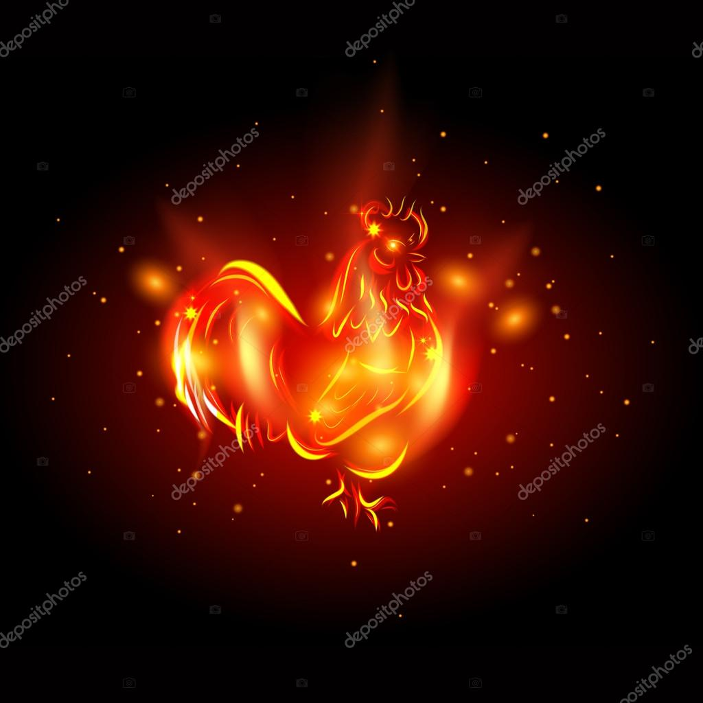 Rooster 2017d Fire Rooster Symbol Of New Year 2017 In Chinese