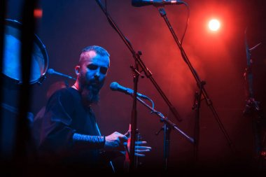 Nordic ritual folk band NYTT LAND performing live at Yotaspace club on February 04, 2017 in Moscow, Russia.