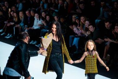 Model walk runway for YASYA MINOCHKINA catwalk at Fall-Winter 2017-2018 at Mercedes-Benz Fashion Week Russia.