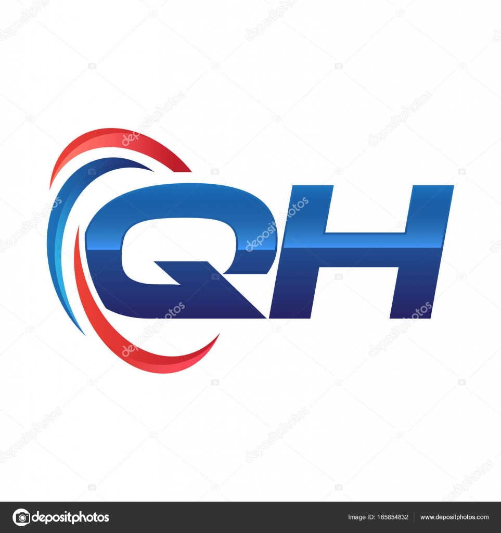 initial letter logo swoosh red blue stock vector khuluk 165854832 rh depositphotos com swoosh logo nike swoosh login family member