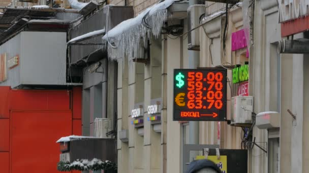Russian Ruble exchange to dollars and euro