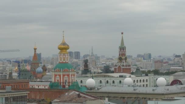 Letecký pohled na panorama zimní Kreml v Moskvě