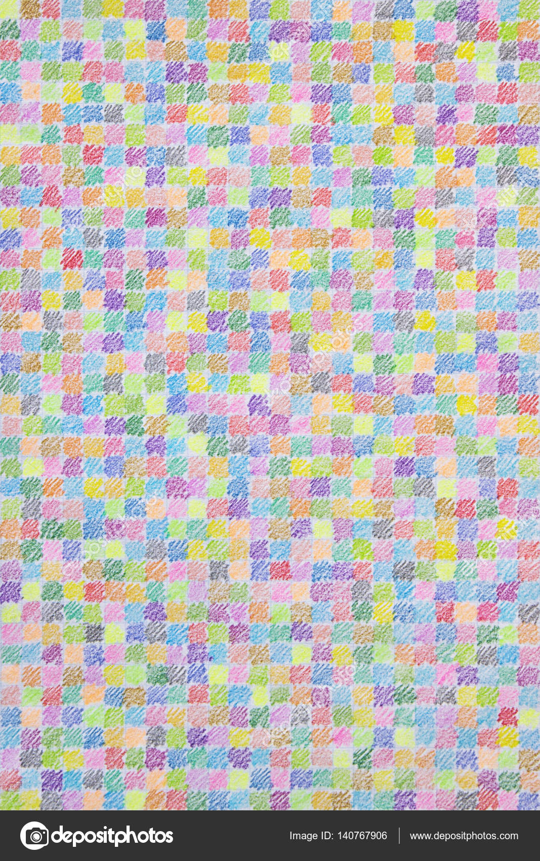 Buntstift Scribble Muster Auf Karopapier Stockfoto Smilyk 140767906