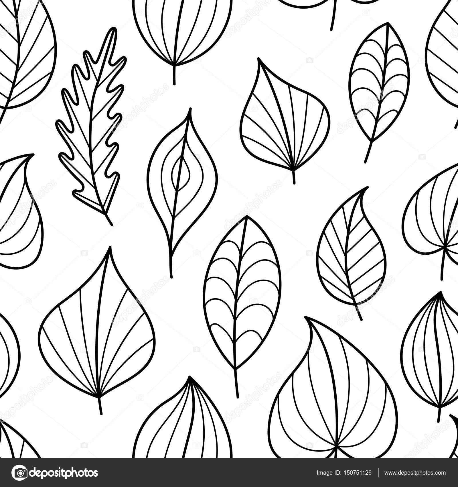 Página para colorear de patrones sin fisuras con caída — Vector de ...