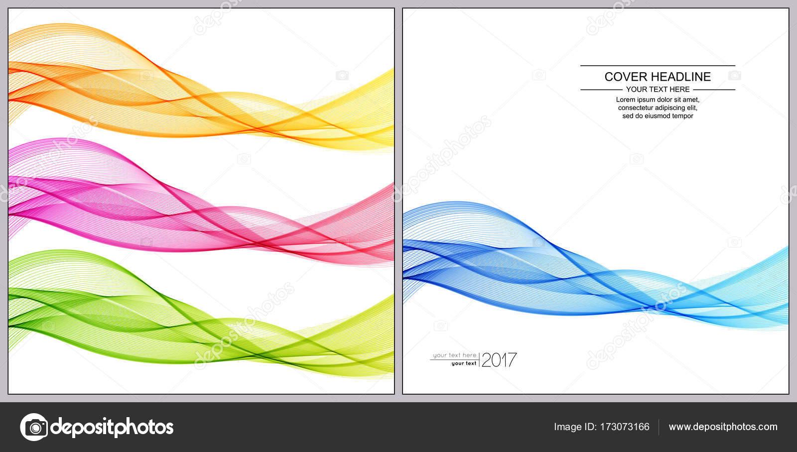 Universal de tapas de diseño, con líneas de onda azul, verde, rojo ...