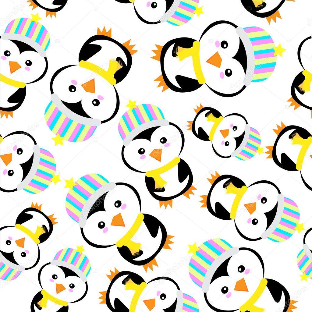 Fondo transparente de la ilustración de Navidad con lindo pingüino ...
