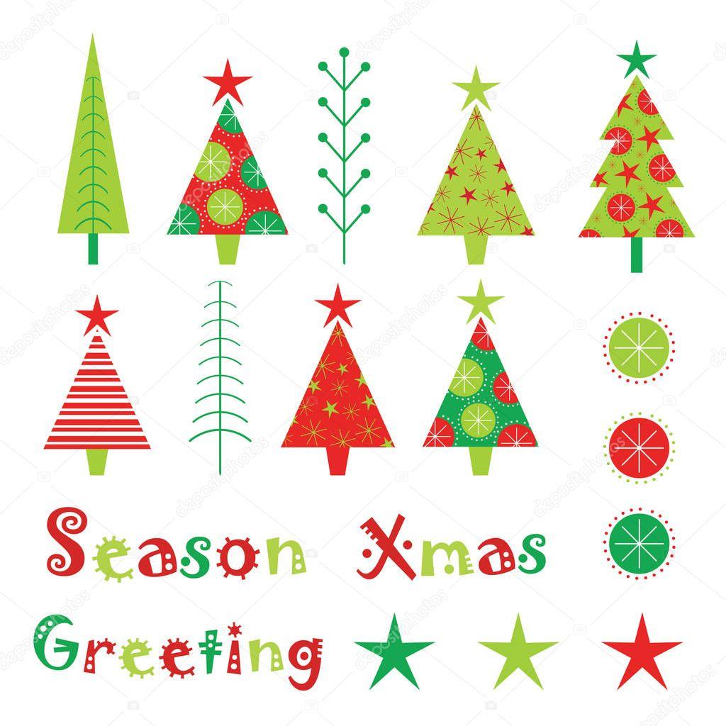 クリスマス イラスト クリスマス ツリーやクリスマス飾り子供クリスマス