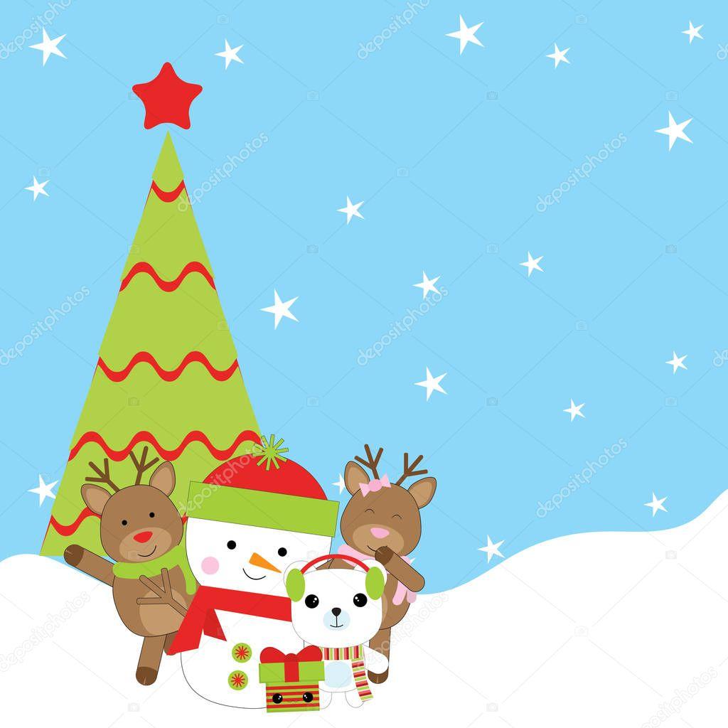 Imágenes Un Venado Navideño Ilustración De Navidad Con
