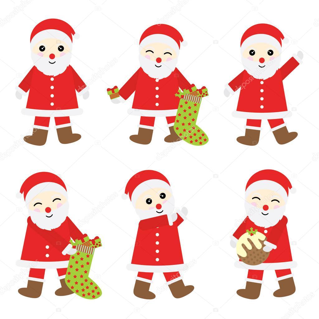 Weihnachten Illustration mit süßer Weihnachtsmann für Weihnachten ...
