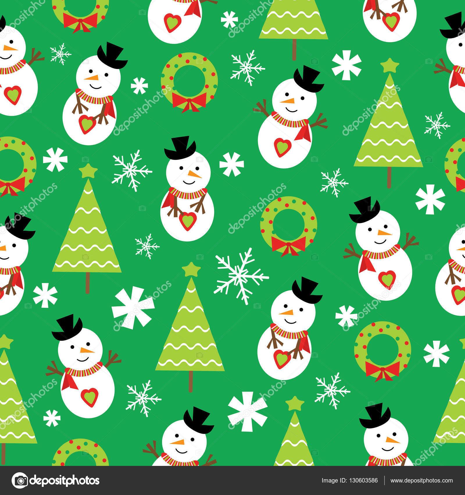 クリスマス イラストかわいい雪だるまとクリスマス ツリー壁紙ポスト