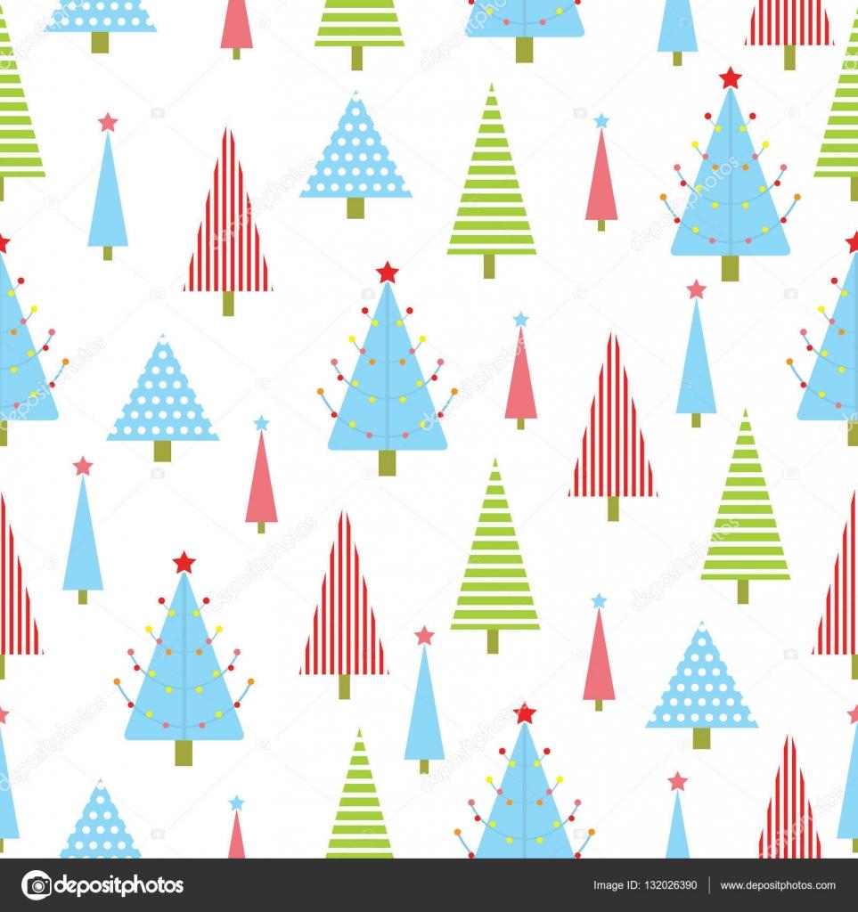 Nahtlose Hintergrund Weihnachten Illustration mit grün, rot, und ...