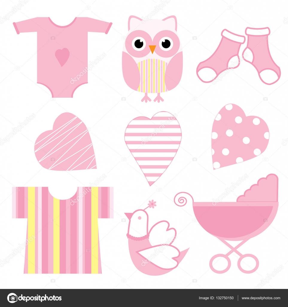 9605072d1 Ilustración de ducha de bebé búho lindo bebé rosa