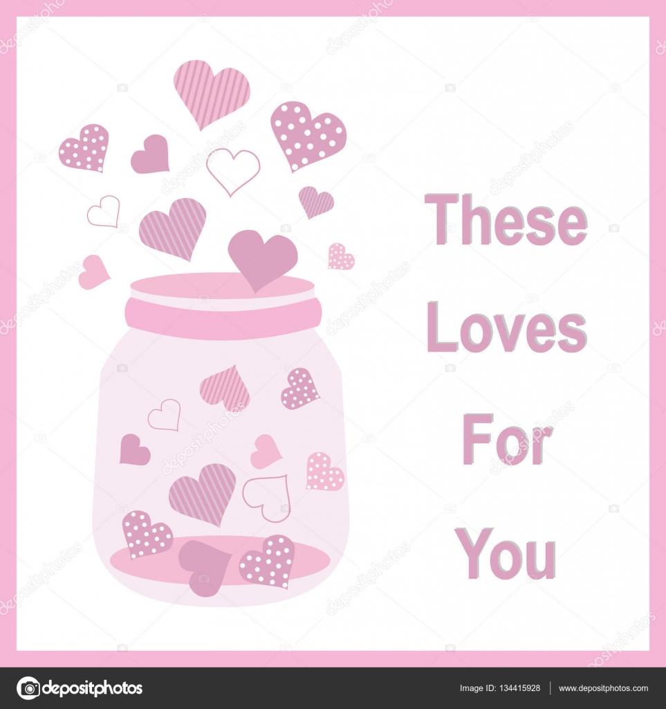 Valentine Illustration mit niedlichen rosa Flasche füllen der Liebe ...