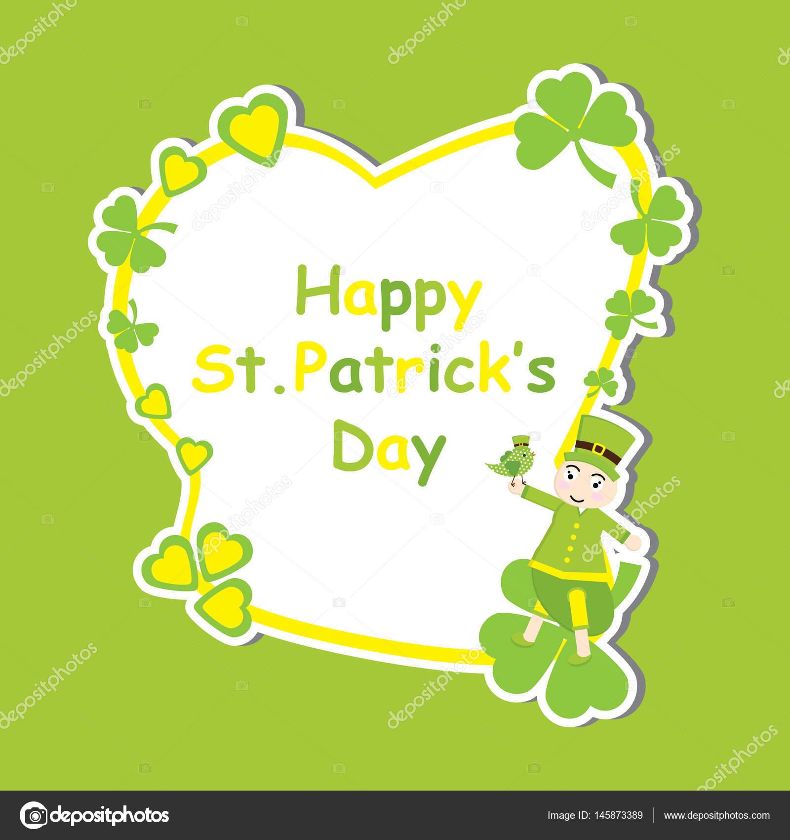 Tarjeta del St. Patrick Day con dibujos animados de hormiga Linda y ...