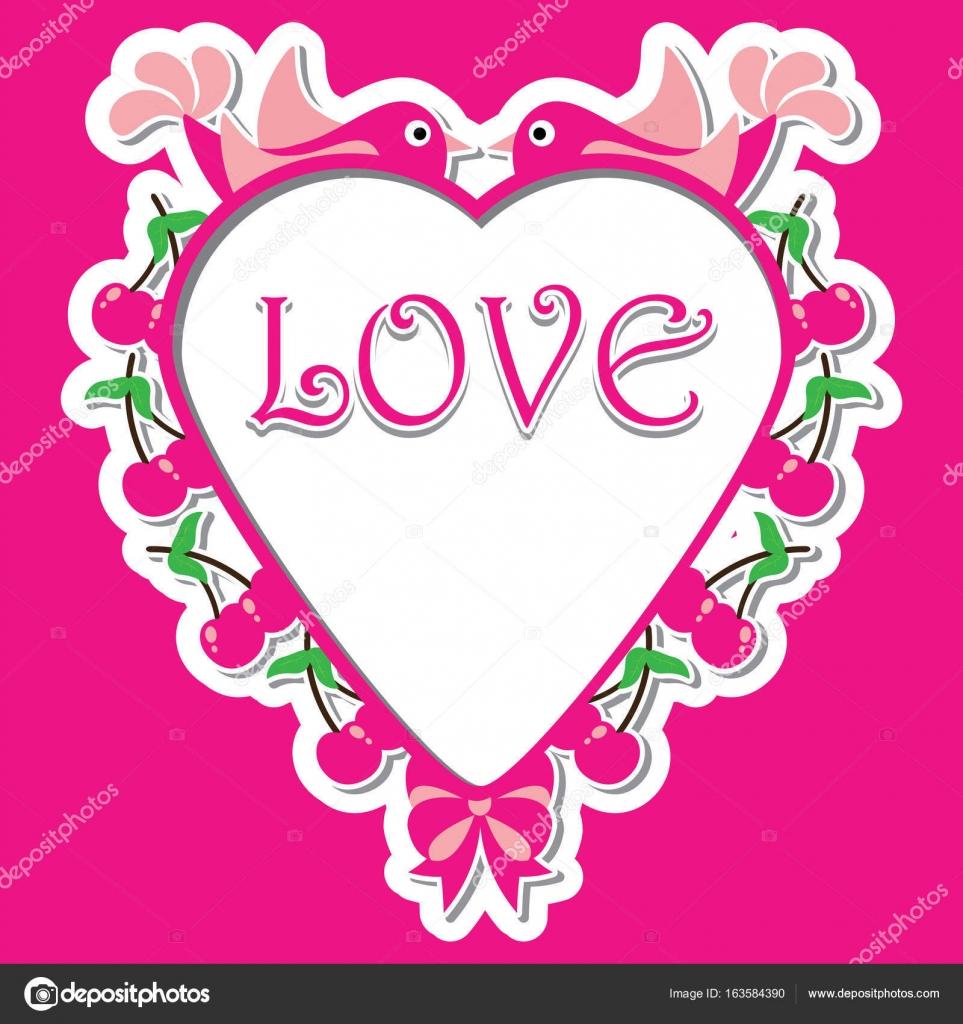 Ilustración de dibujos animados de vector de San Valentín feliz con ...