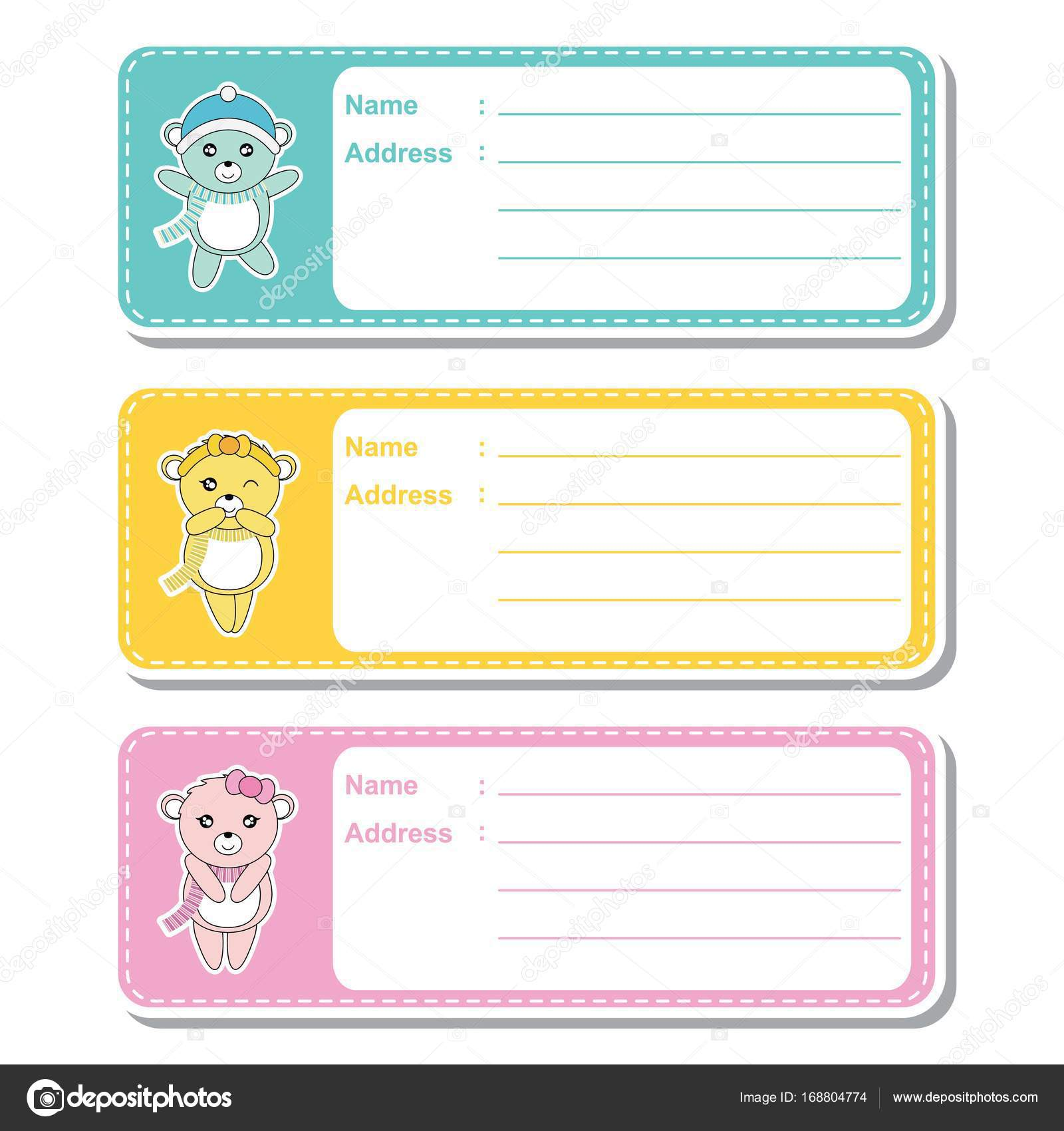 vector cartoon illustration with cute baby bears on colorful