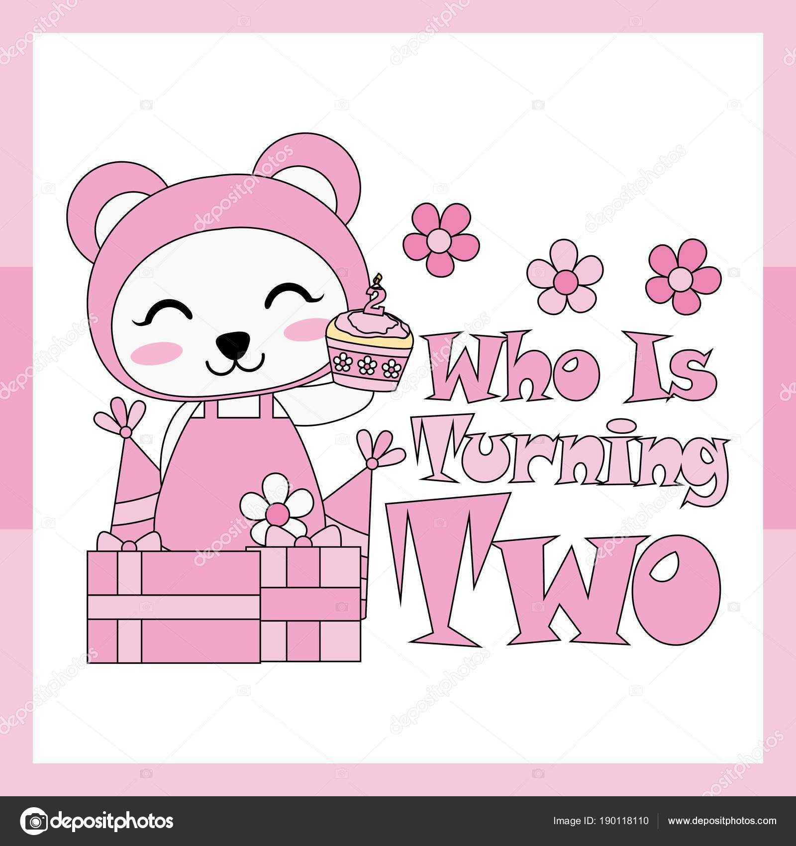 vector cartoon illustration cute panda girl box gifts suitable