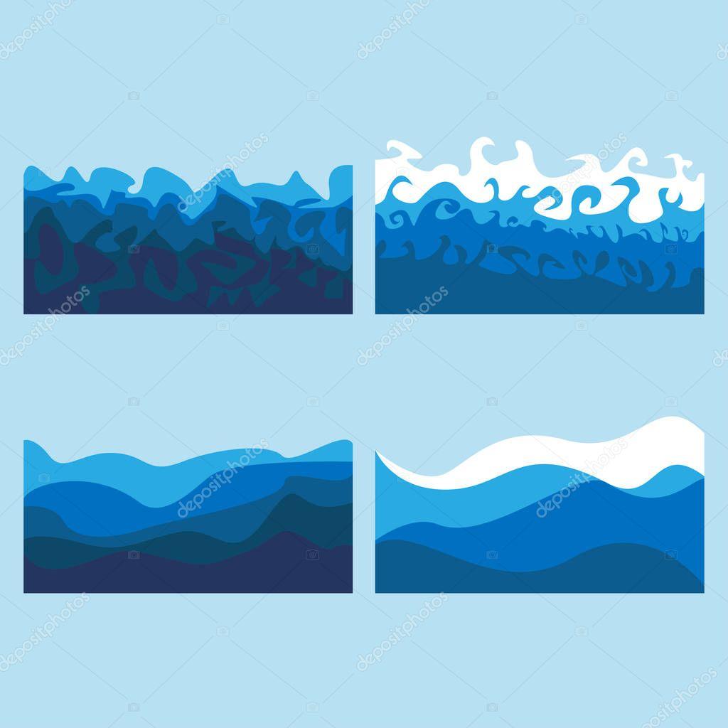 set of ocean waves