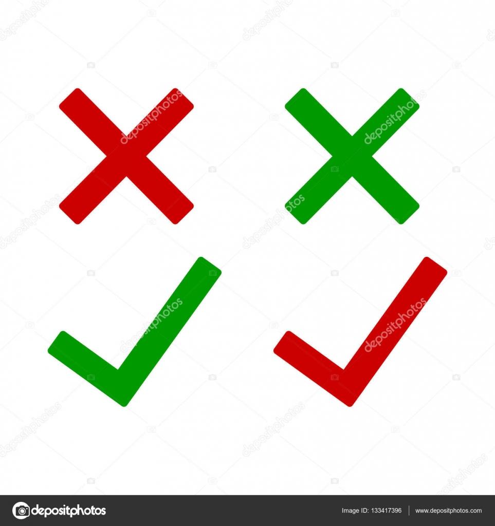 Tick And Cross Icons Stock Vector Oleksandrmalysh 133417396
