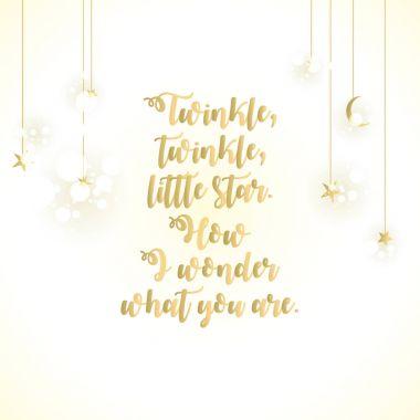Twinkle Twinkle Little Star lettering card.