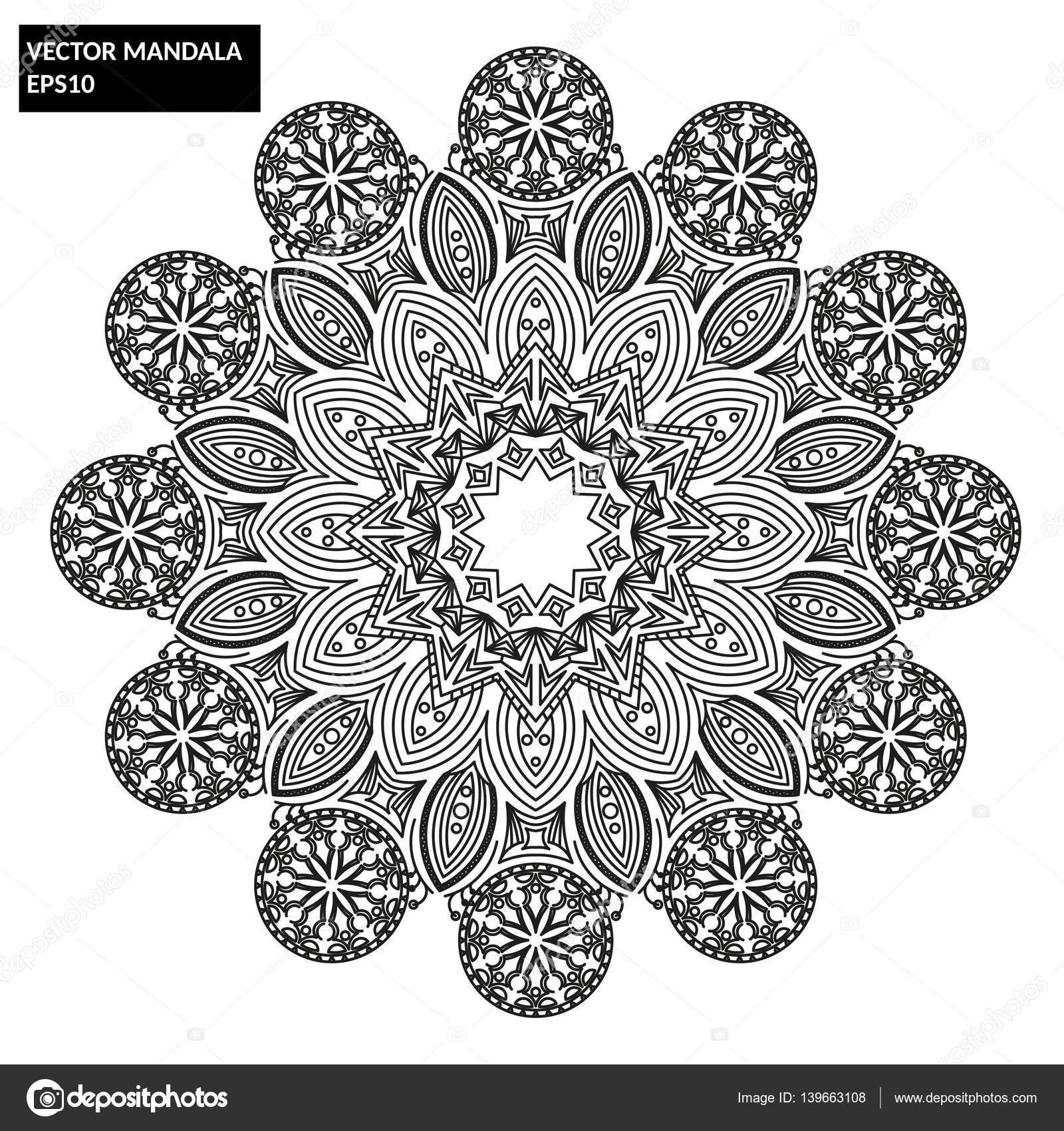 Mandala, Vector Mandala, floral mandala — Stockvektor © Nazhul ...