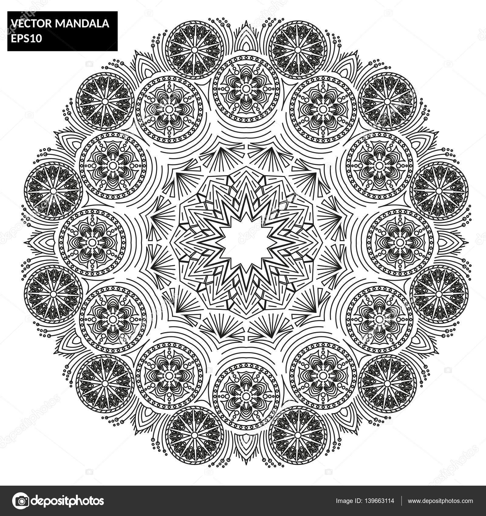 depositphotos stock illustration mandala vector mandala floral mandala